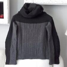 maglioncino donna nero e grigio tipo cinzia araia maglia maglione misto lana