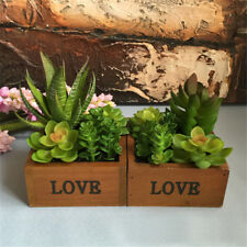 New Set Of 2 Louis Garden Artificial Mini Potted Plants Home Decoration Flower