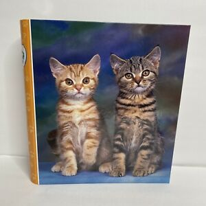 "Vintage Mead 1.5"" Binder Organizer Purrs & Grrrs Kittens NWT Ron Kimball"