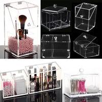 Clear Makeup Holder Jewelry Brush Organizer Acrylic Cosmetic Case Storage Box