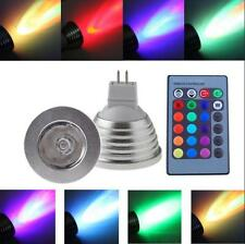 Energy Saving MR16 3W 12V 16-color RGB LED Light Lamp Bulb with Remote Control