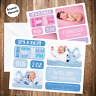 10 Personalised New Baby Photo Thank You Cards / Birth Announcement Boy or Girl