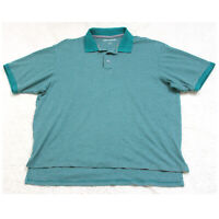 Large Great Northwest Green Gray Cotton Poly Polo Shirt Short Sleeve Men's Top
