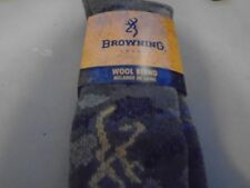 Browning Hosiery Men's Camo Wool Blend High Boot Sock, SIZE XL 12-15