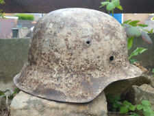 Original WW2 Winter White Camo - M42 German Helmet