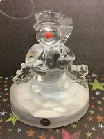 Cristal d' Arques 24% Lead Crystal France Musical Snowman Frosty The Snowman