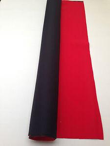 NEOPRENE WETSUIT MATERIAL NYLON SHEET 2.5mm BLACK/RED 2.1m x 1.3m UK