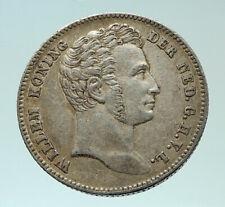 1826 NETHERLANDS DUTCH EAST INDIES King Wilhelm Genuine Silver 1/2G Coin i75886