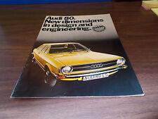 1973 Audi Super 80 32-Page Sales Catalog
