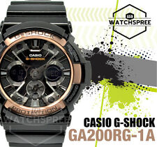Casio G-Shock Extra-Large Black Rose Gold Analog Digital Watch GA200RG-1A