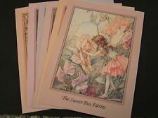 6 Six Beautiful Card Picture Girl Flower Fairy Cicely Mary Barker Rose FREE POST