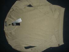 Lacoste Men's Long Sleeve V Neck Cardigan - Light Brown  - Size 5 BNWT