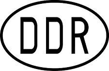 PREMIUM Autoaufkleber Kennzeichen DDR oval Aufkleber Sticker Auto Motorrad NEU