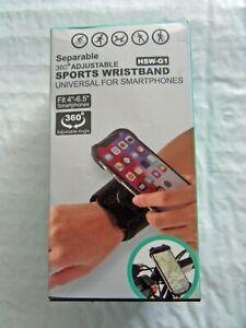 New Separable 360° Adjustable Universal Sports Smartphone Wristband Free Ship