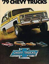 1979 Chevy TRUCK Brochure : PickUp,VAN,LUV,BLAZER,SUBURBAN,EL CAMINO,CaraVAN,C10