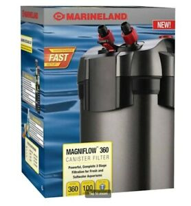 Marineland Magniflow 360 GPH Canister Filter NEW Original Owner with Freebies