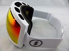 Electric EG2 Snow Goggles Gloss White - Brose/Red Chrome + Light Green Lens