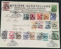 1925 Vienna Austria Stamps Hygiene Exhibition Multi Franking Optician Cover