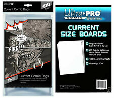 Ultra Pro Comic Series - CURRENT Size Comic Bags x 100 Plus Backing Boards x 100