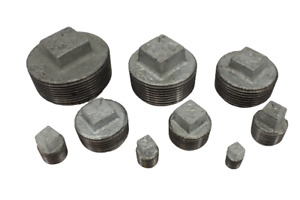 """Galvanised Malleable Iron Hollow Plug Pipe Fittings 6mm - 50mm (1/8"""" - 2"""")"""