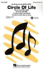 Elton John: círculo de la vida (2 parte) 2 parte coro, piano acompañamiento Hoja Musi