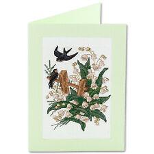 Panna Cross Stitch Embroidery Card Kit - OT-1362 Swallows