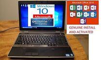 """Dell Latitude E6520 15.6"""" HD Quad i7 2.2GHz DVDRW W10 WIFI,New Microsoft Office"""