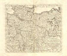 'Nuova Carta del Circolo di Sassonia Inferiore..', by Isaak TIRION 1740 map