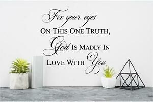GOD is Madly in Love With YOU Wall Sticker Vinyl Decals Bible Verse lettering