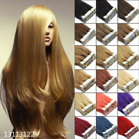 "16""18""20""Long Remy Real Seamless Tape In Straight 100% Human Hair Extensions"