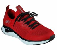 Skechers Red shoes Men Memory Foam Walk Train Sport Comfort Casual Slip On 52757