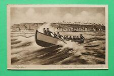 Schleswig Holstein AK Helgoland 1930er Durch die Brandung bei schwerer See