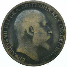1910 ONE PENNY COIN EDWARD VII GREAT BRITAIN BEAUTIFUL COLLECTIBLE    #WT31313