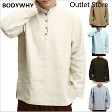 Chinese Style  Shirts Cotton Blouse Full Sleeve Collar Vintage New Year Clothes