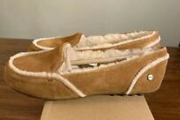 UGG Australia Hailey Women's Sheepskin Suede Loafers 1020029 CHESTNUT SIZE 10