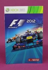 INSTRUCTION BOOKLET/MANUAL FOR F1 FORMULA 1 2012 XBOX 360 (NO GAME) 😎OZ SELLER