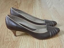 Jones Ladies Leather Heeled Shoes Brown Size 6 / 39