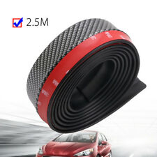 2.5M/8ft Carbon Fiber Front Bumper Lip Splitter Chin Spoiler Body Trim Universal