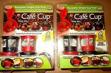 New Cafe Cup Eight Reusable K Cup Coffee Filter Keurig Pods AS SEEN ON TV Kcups