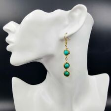 LiiJi Blue Turquoise Beads Fashion Dangle Earring Basic Nice Gift for Women