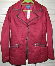 NEW Pendleton Womens Casual Complements Quilted Small Red Riding Jacket Coat