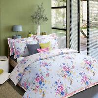 Duvet/Quilt Cover with Pillow Case Bedding Set Floral Bloom, Double