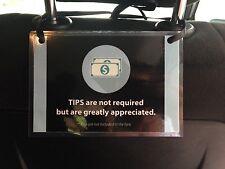 3 x Uber Lyft Tips Sign Rating Rideshare Car Headrest Display Cards