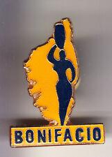 RARE PINS PIN'S .. TOURISME ILE CORSE CORSICA CARTE FILLE SEXY BONIFACIO ~CD