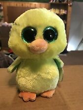 Ty NUGGET -Yellow/Green Plush Chick Beanie Boo! *Exclusive* Retired!
