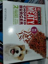 Purina Moist & Meaty Dog Food Chopped Burger 2 Stay Fresh Pouches Expires Oct 20