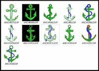 11 Anchor Embroidery Digitized Stitches Design Machine