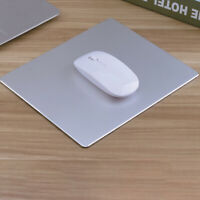 Aluminum Alloy Gaming Mouse Mat Pad Mousepad Non-slip For Apple MacBook Silver
