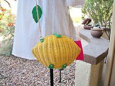 Betsey Johnson Don't Be Tarty Lemon Straw Basket Crossbody Bag NWT