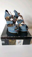 "Baby Phat Womens 9 Jordan Denim Tassel Platform Pump High Heels 5 1/2"" Heel New"